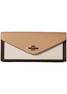 Coach Soft Wallet in Color Block Leather