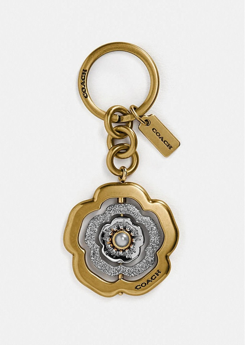 Coach spinning tea rose bag charm