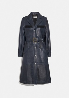 Coach sporty leather trench