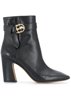 Coach square-toe leather ankle boots