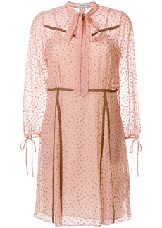 Coach star print georgette dress