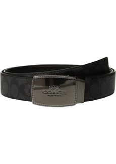 Coach Stictched Plaque Signature Reversible Belt