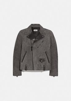 Coach suede moto jacket