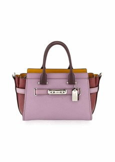 Coach Swagger 27 Colorblock Pebbled Leather Tote Bag