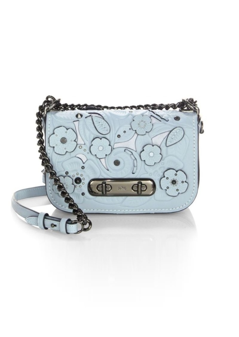 2bf86721 Swagger Flower Leather Crossbody Bag