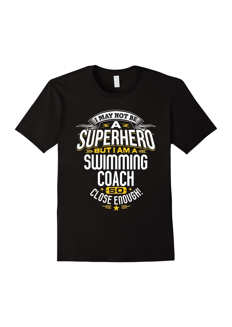 Swimming Coach TShirt Gift Idea Superhero Swimming Shirt