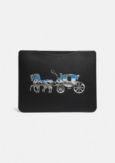 Coach tablet sleeve with horse and carriage