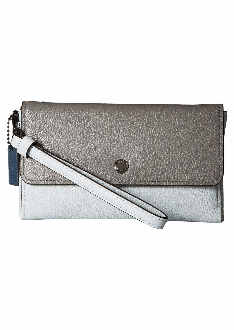 550a35b753 Triple Small Wristlet in Color Block Leather