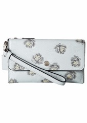 Coach Triple Small Wristlet in Floral Printed Leather