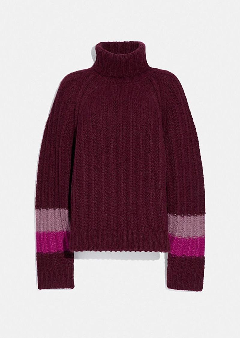 Coach turtleneck sweater