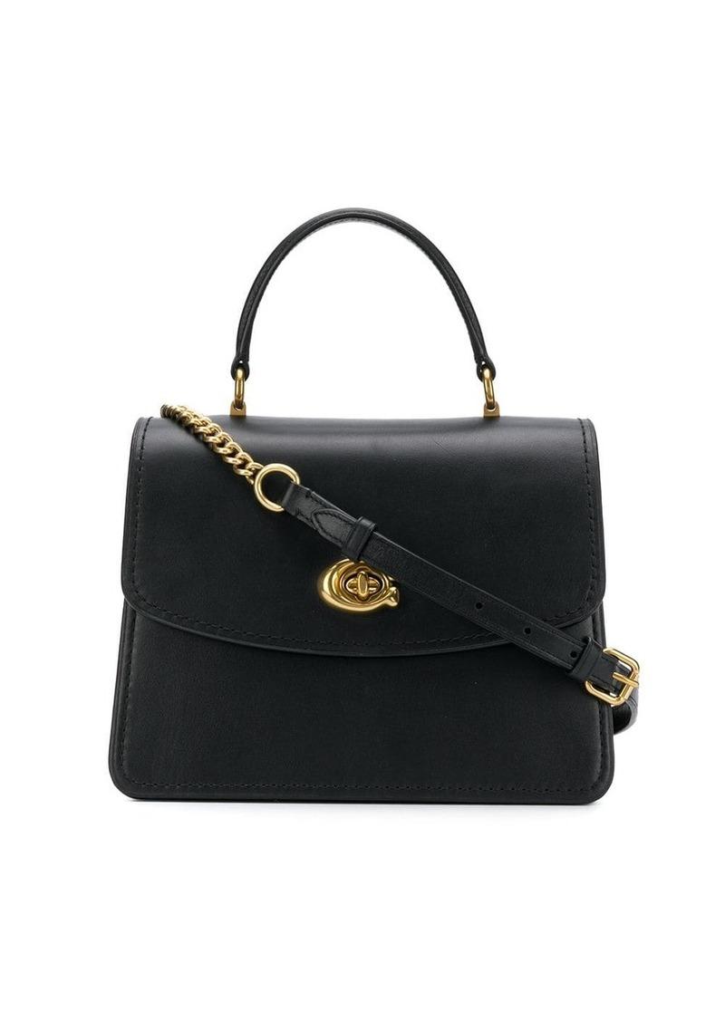 Coach twist-lock satchel bag