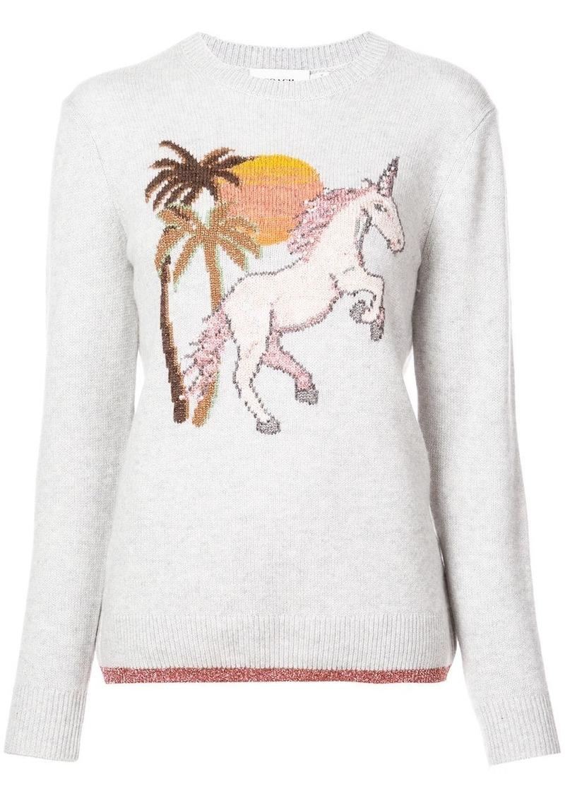 Coach unicorn intarsia cashmere jumper