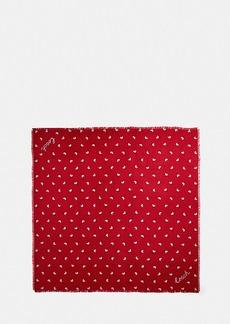 Coach valentine's day silk square scarf