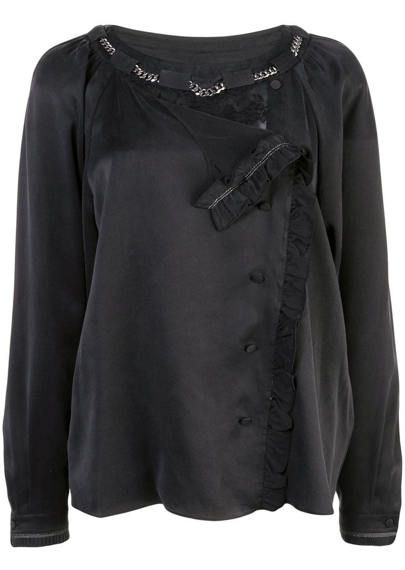 Coach washed effect blouse