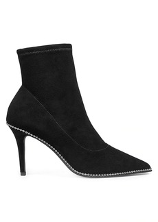 Coach Whitny Bead-Trim Suede Sock Boots