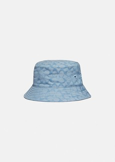 Coach wide signature denim bucket hat