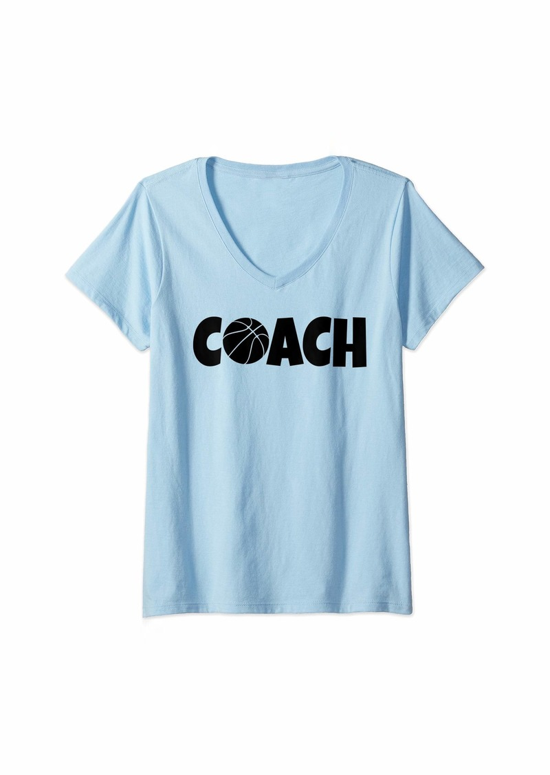 Womens Basketball Coach Lead Mentor Coaching V-Neck T-Shirt