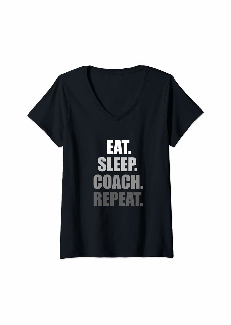 Womens Coach V-Neck T-Shirt