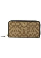Coach zip around logo wallet
