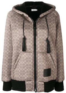 Coach zipped hooded sweatshirt