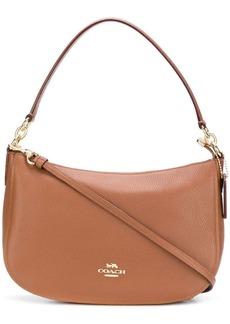 Coach zipped logo shoulder bag