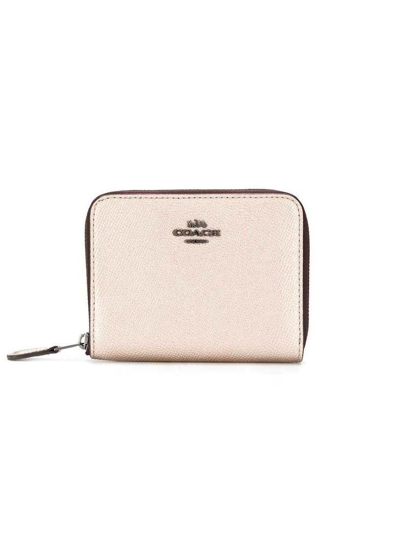 Coach zipped metallic wallet