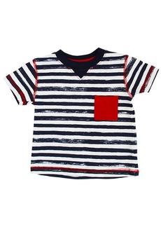 Coccoli Patched Stripes T-Shirt