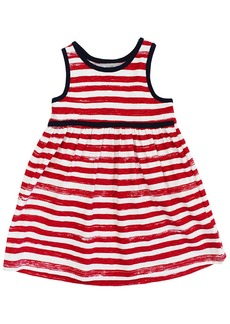 Coccoli Striped Empire Waist Dress