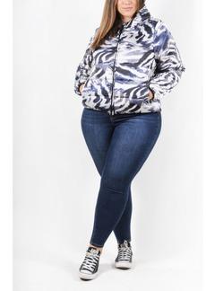 Coldesina Matte Satin Plus Size Women's Puffer Jacket with Hood