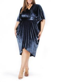 Plus Size Women's Coldesina Butterfly Velvet Caftan