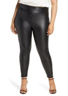 Plus Size Women's Coldesina Faux Leather Leggings