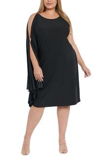 Plus Size Women's Coldesina Lesley Drape Sleeve Dress