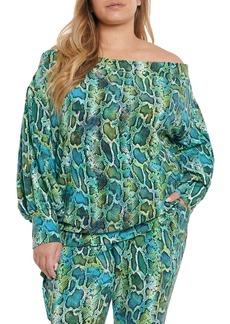Plus Size Women's Coldesina Stevey Off The Shoulder Knit Top