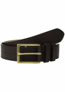 Cole Haan 35 mm. Pebble Leather Belt w/ Center Stitch