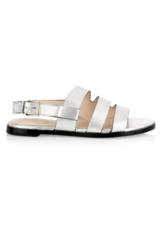 Cole Haan Anela Grand Metallic Leather Slingback Sandals