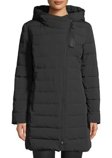 Cole Haan Asymmetric-Zip Puffer Jacket