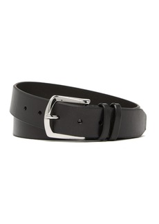 Cole Haan Beveled Edge Double Keeper Leather Belt