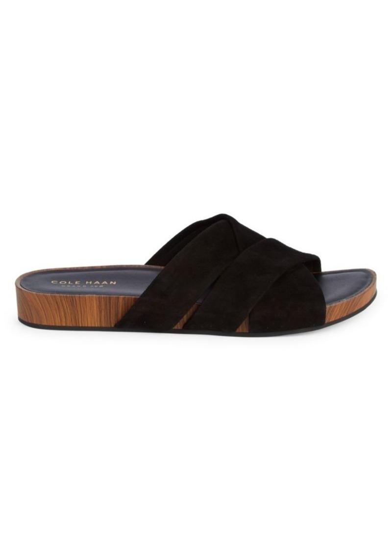 Cole Haan Braelyn Footbed Suede Sandals