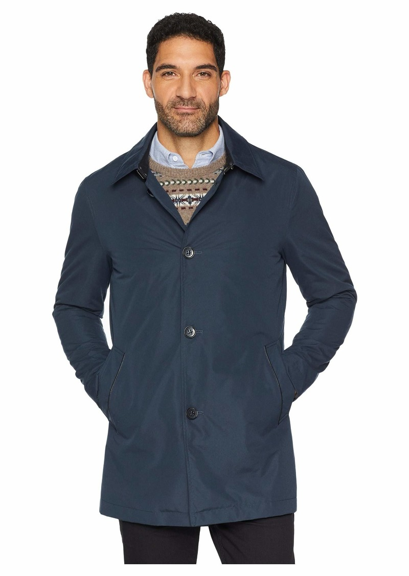 Cole Haan City Rain Button Front Carcoat with Detachable Liner