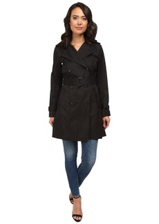 """Cole Haan 35 1/2"""" Double Breasted Hooded Trench"""
