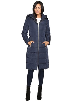 """Cole Haan 40"""" Quilted Down Coat with Oversized Hood"""