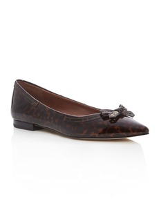 Cole Haan Alice Leopard Print Pointed Toe Ballet Flats