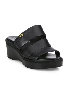 Cole Haan Allesa Grand Leather Wedge Slides
