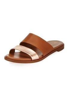 Cole Haan Anica Leather Slide Flat Sandal
