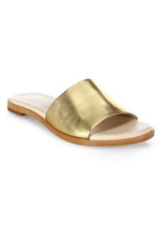 Cole Haan Anica Metallic Leather Slide Sandals
