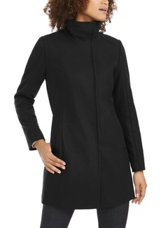 Cole Haan Asymmetrical Snap-Closure Coat