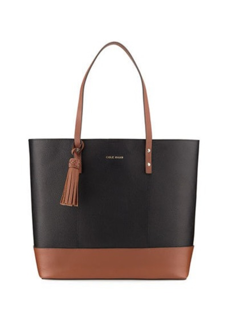 2ddcac01261 Cole Haan Cole Haan Bayleen Two-Tone Leather Tote Bag | Handbags