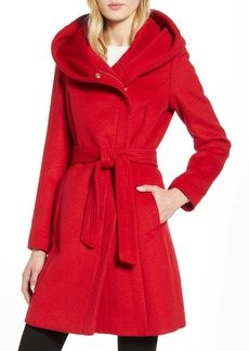 Cole Haan Belted Asymmetrical Wool Coat