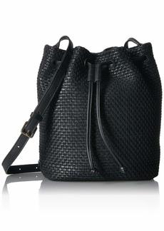 Cole Haan Bethany Woven Bucket Bag black