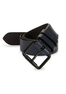 Cole Haan Bevel-Edge Leather Belt